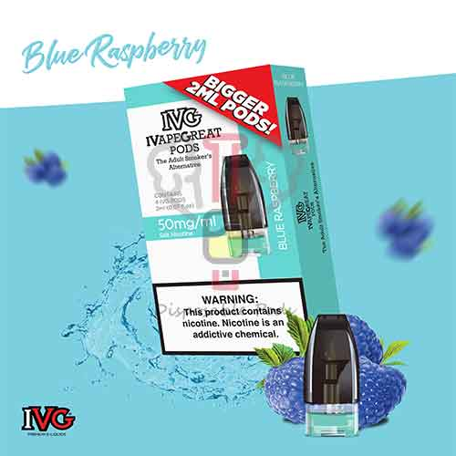 IVG Blue Raspberry Prefilled Pod